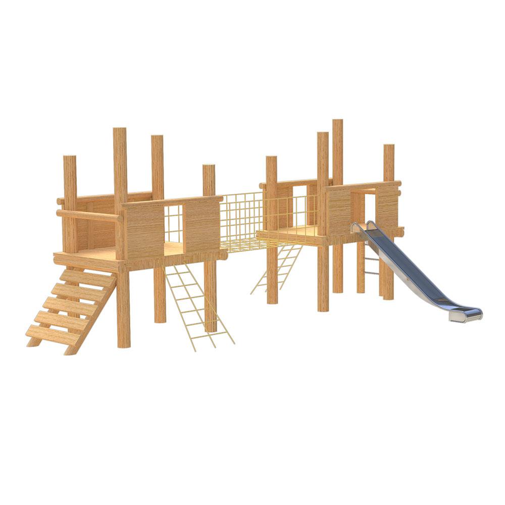 natural playground equipment robinia climbing frame number thirteen