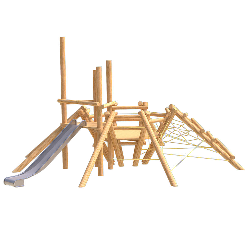 natural playground equipment robinia climbing frame number seveteen