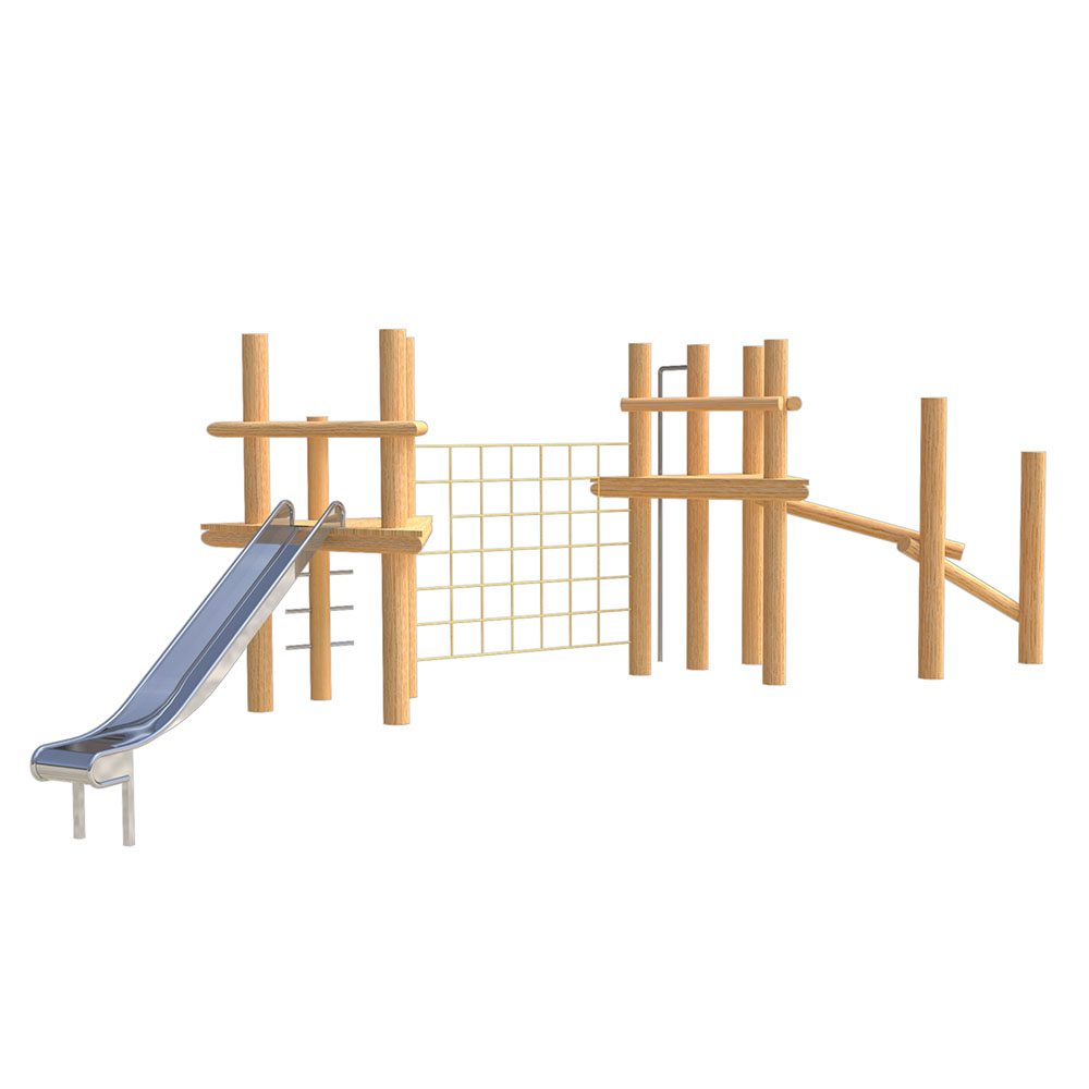natural playground equipment robinia climbing frame number four