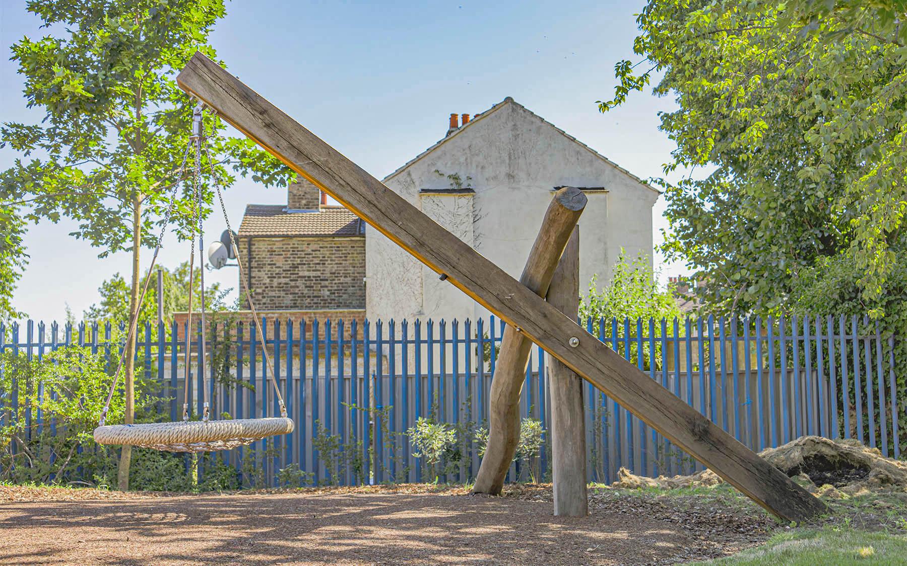 natural playground equipment robinia swings