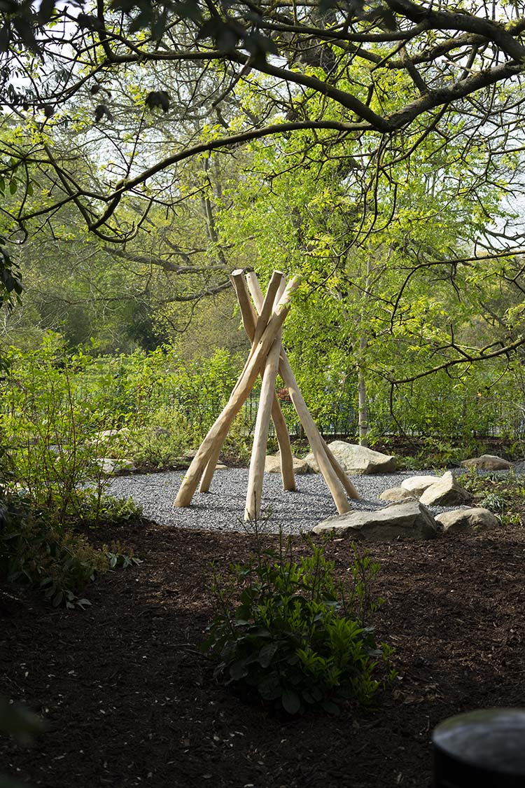 natural playground equipment teepee