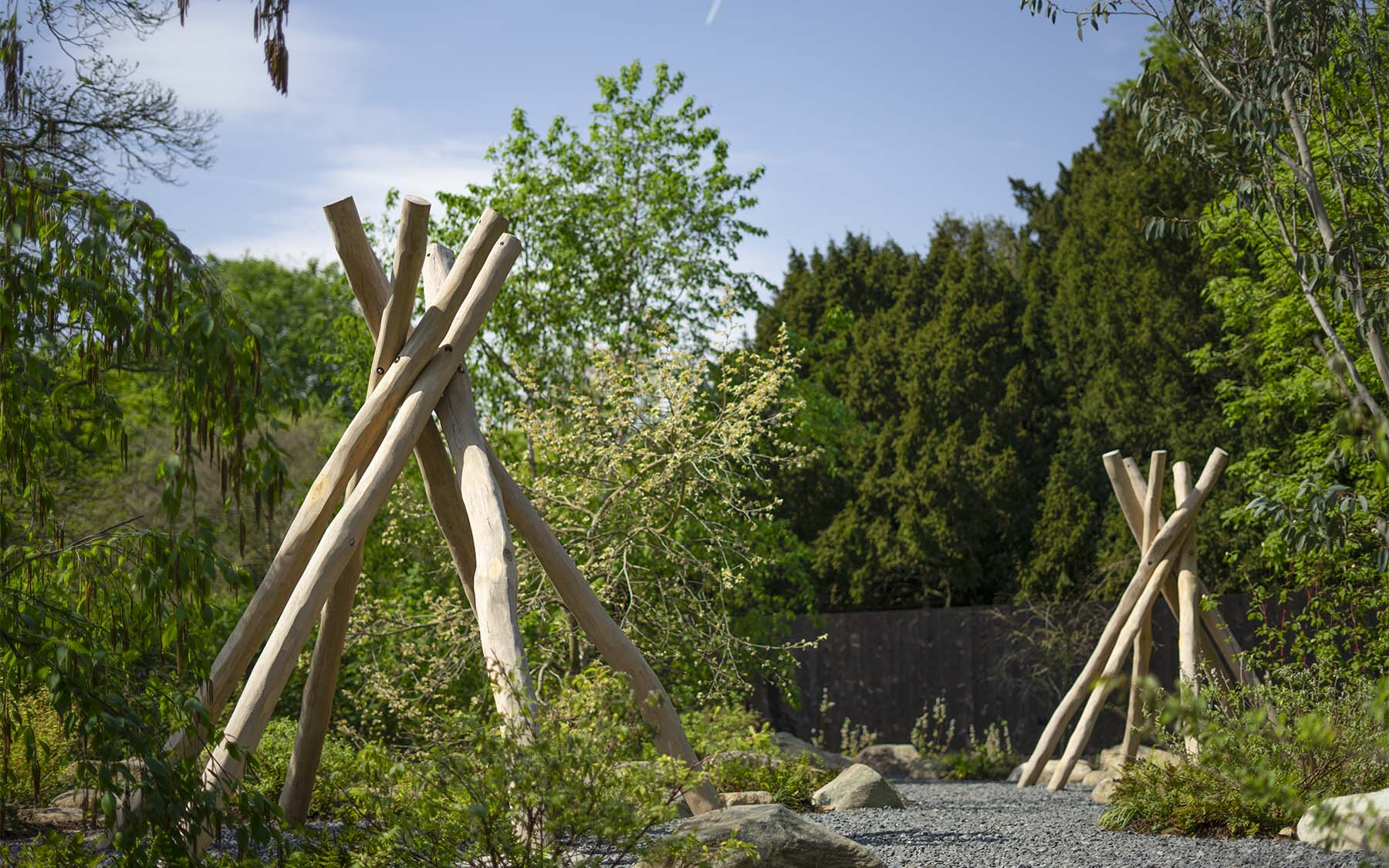 natural playground equipment teepees
