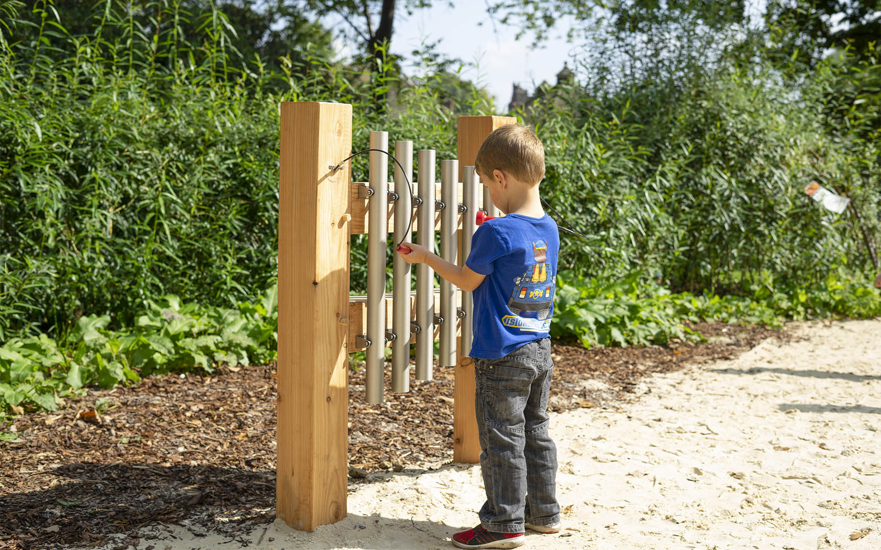 playground equipment musical chimes