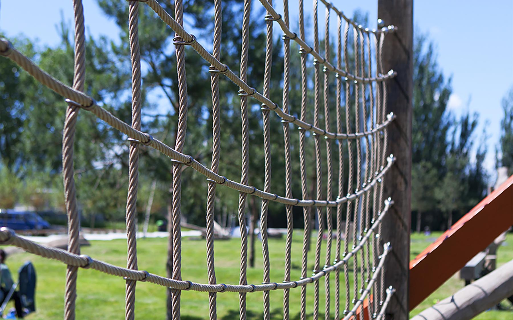 playground equipment oak climbing nets