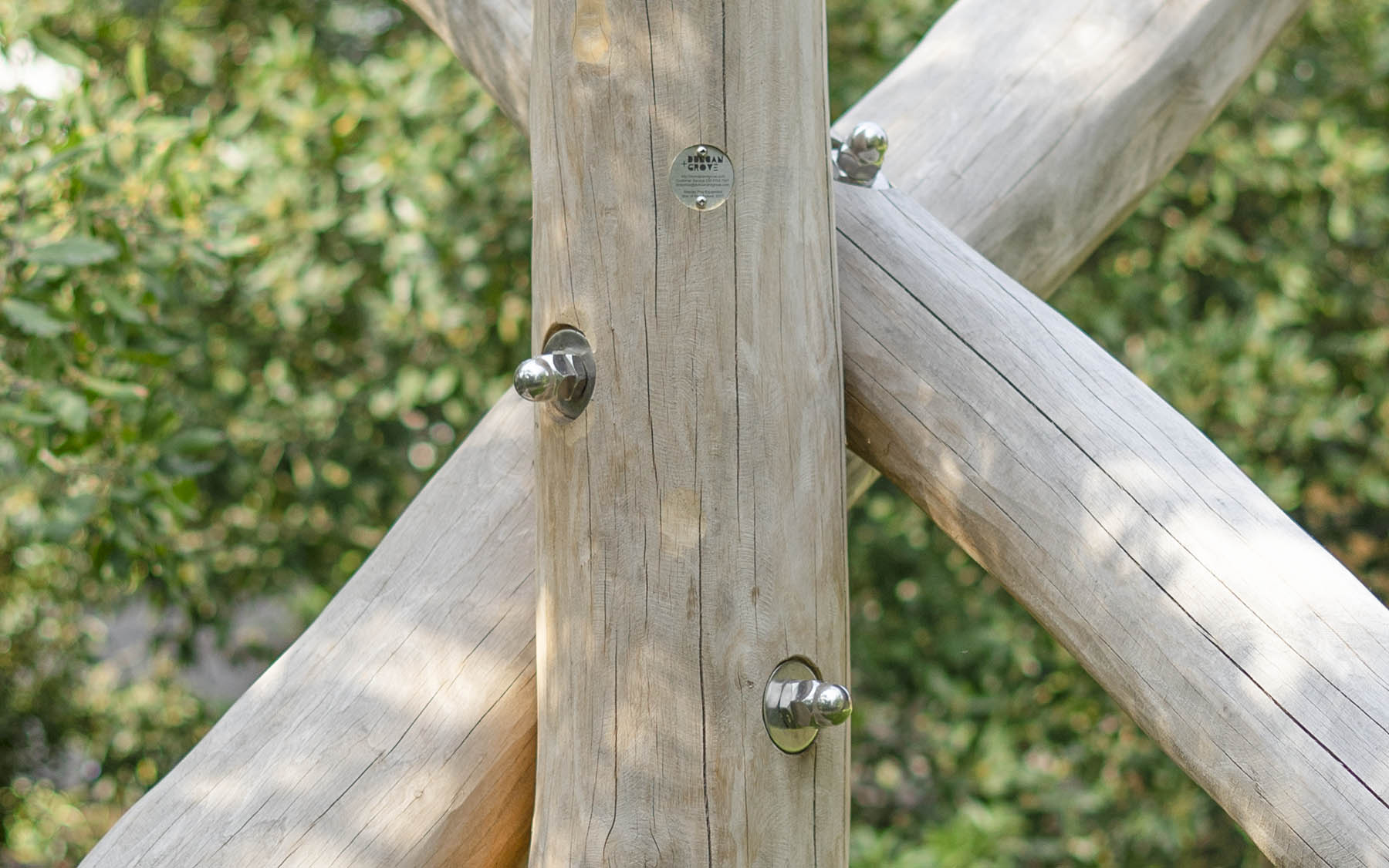 robinia playground equipment domed nuts