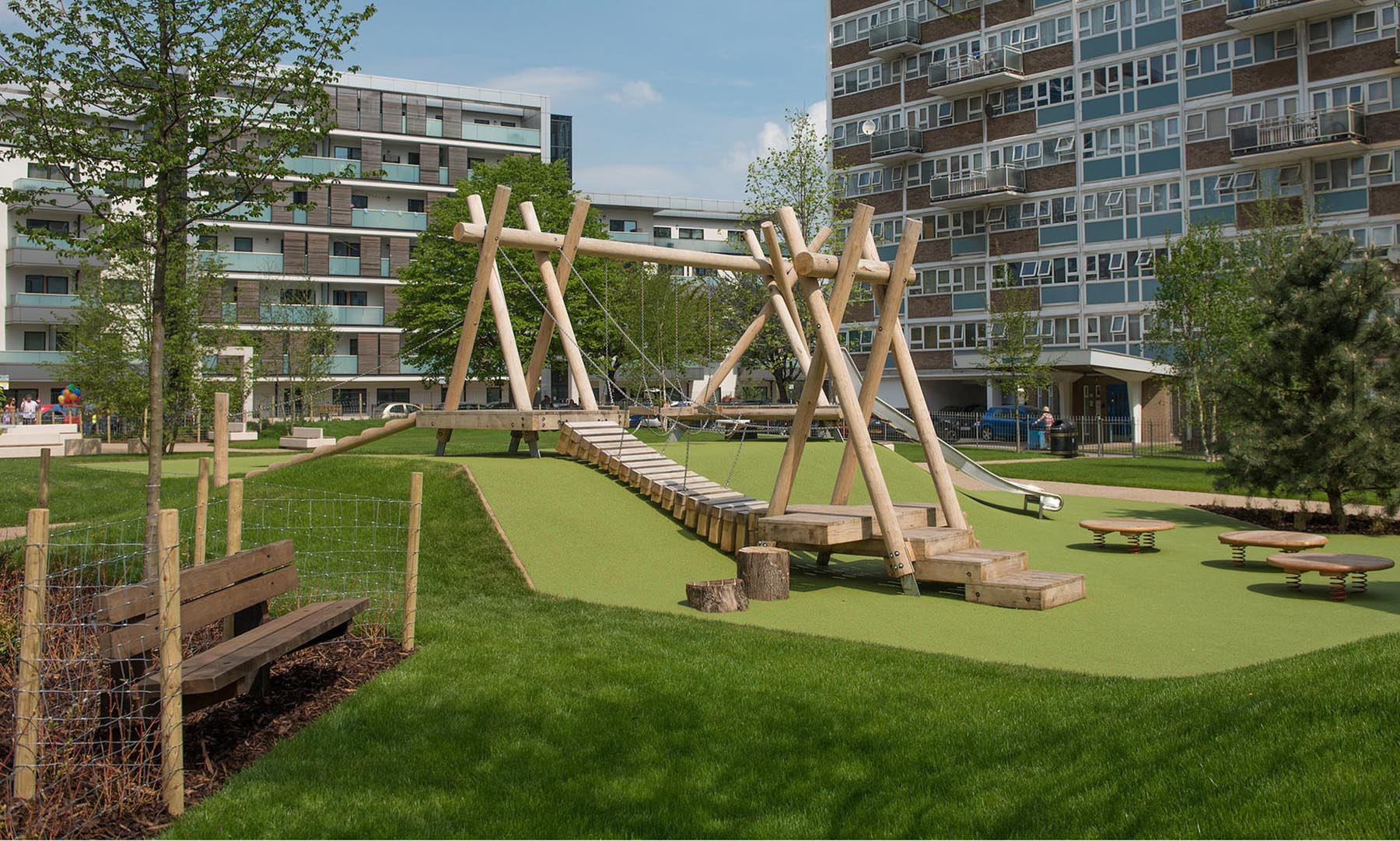 bespoke playgrounds woodhouse urban park