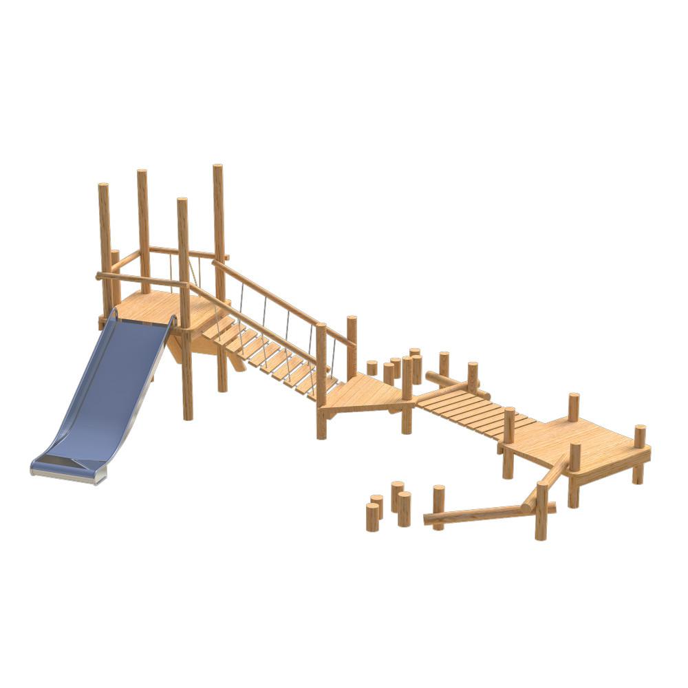natural playground equipment robinia climbing frame number twenty three