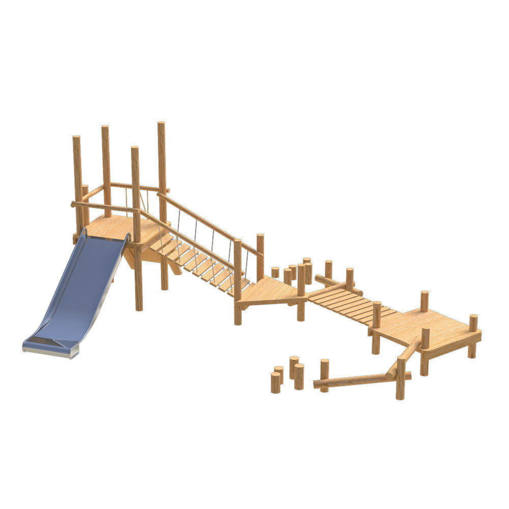 natural playground equipment robinia climbing frame number thirteen