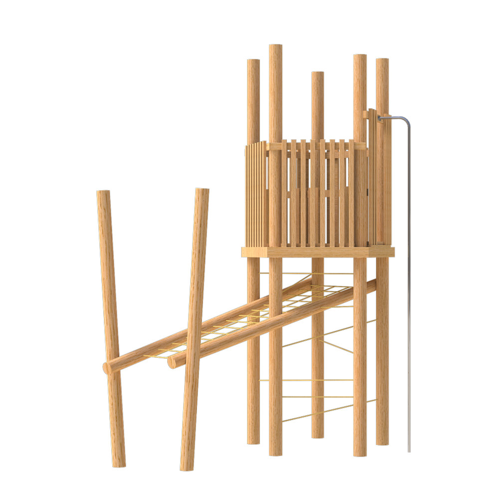natural playground equipment robinia climbing frame number eighteen
