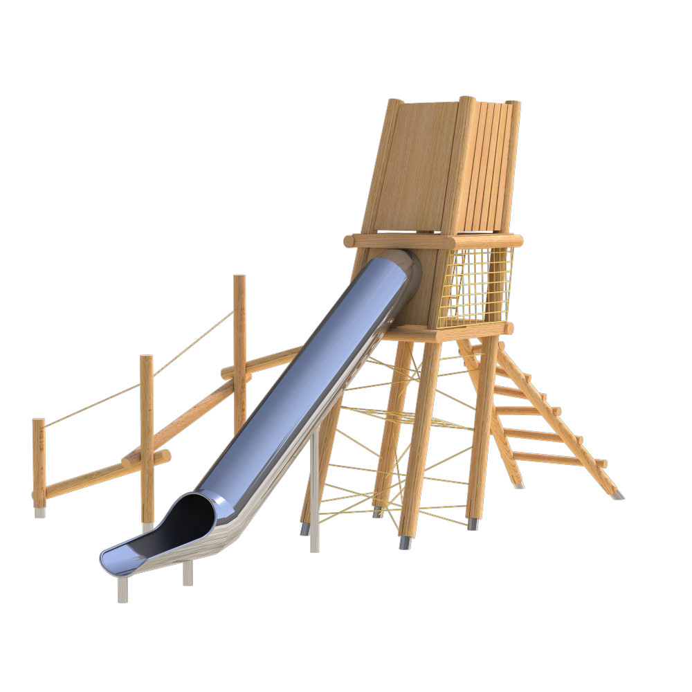 natural playground equipment robinia climbing frames