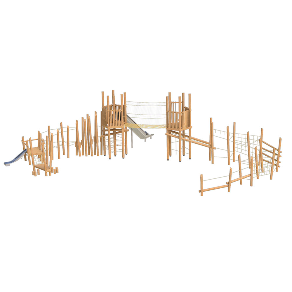 natural playground equipment robinia climbing frame number twenty four