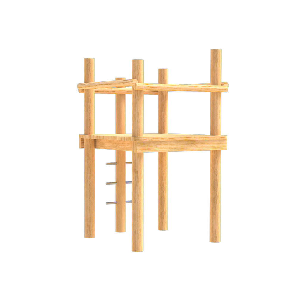 natural playground equipment robinia climbing frame number twenty seven