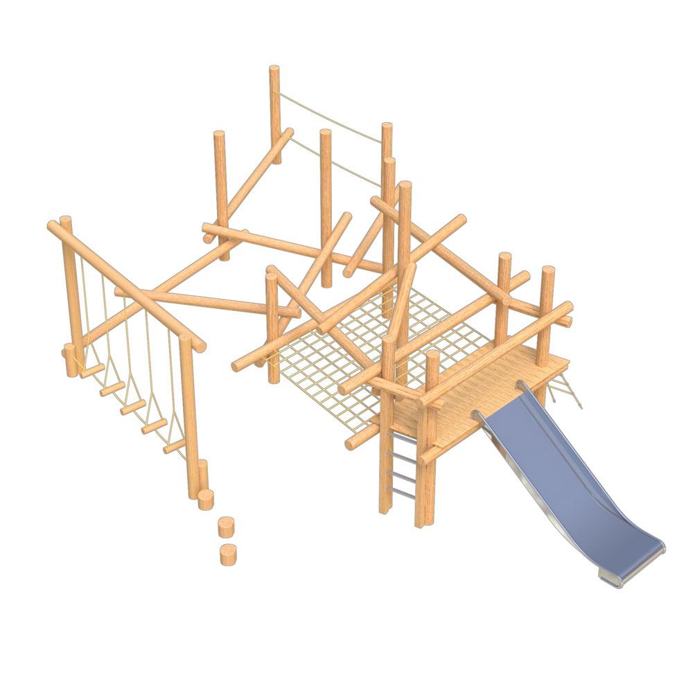 natural playground equipment log climbing frames