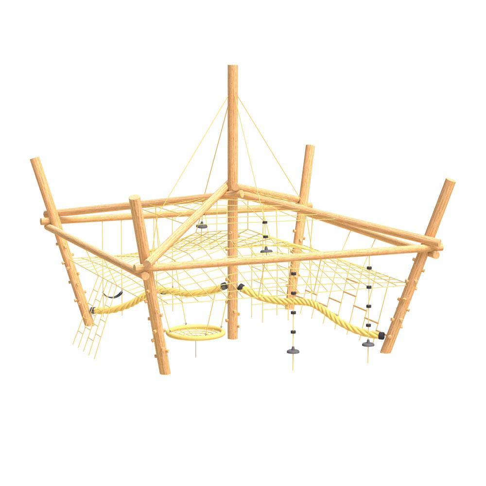 natural playground equipment climbing nets