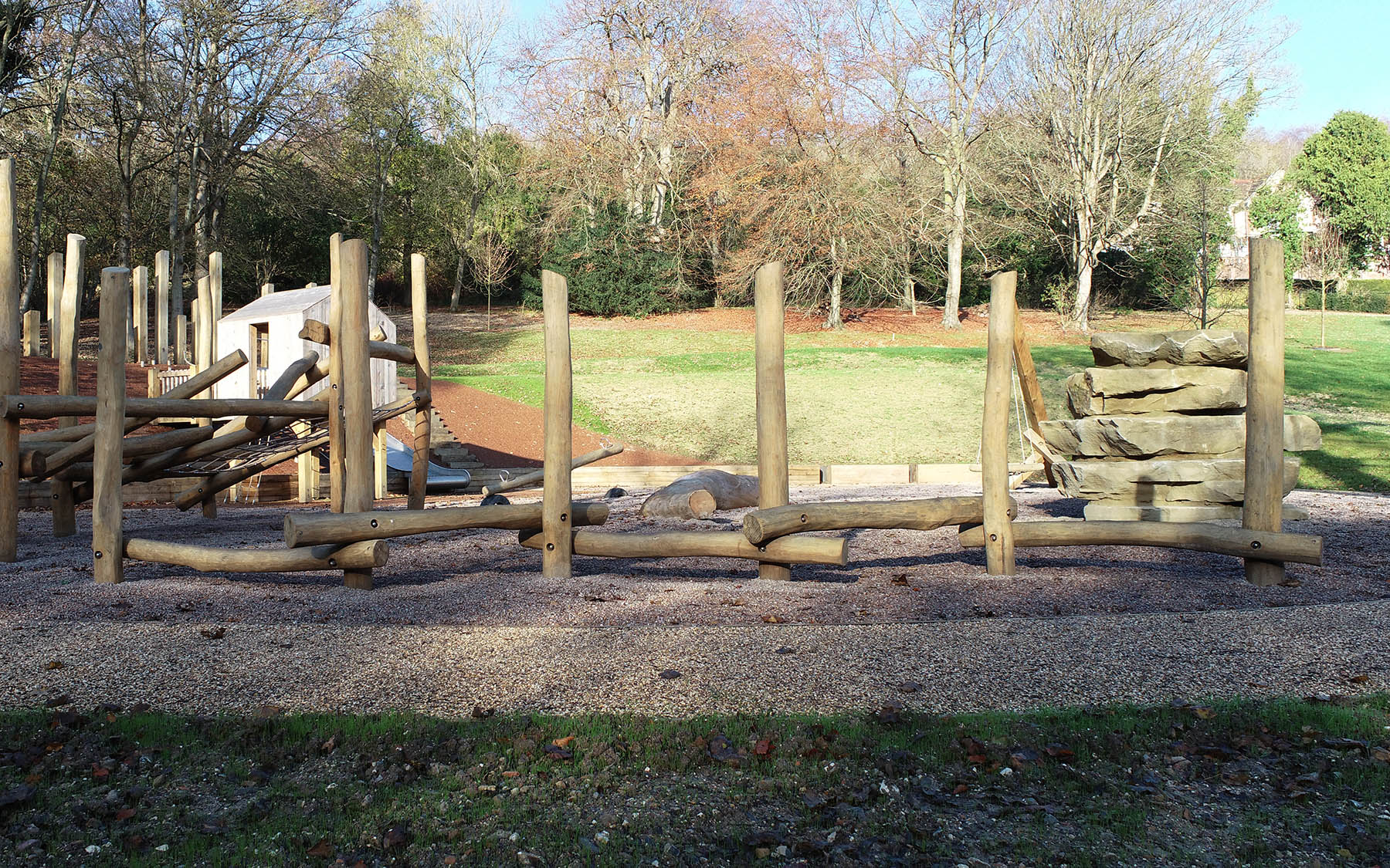 natural playground equipment kearsney abbey