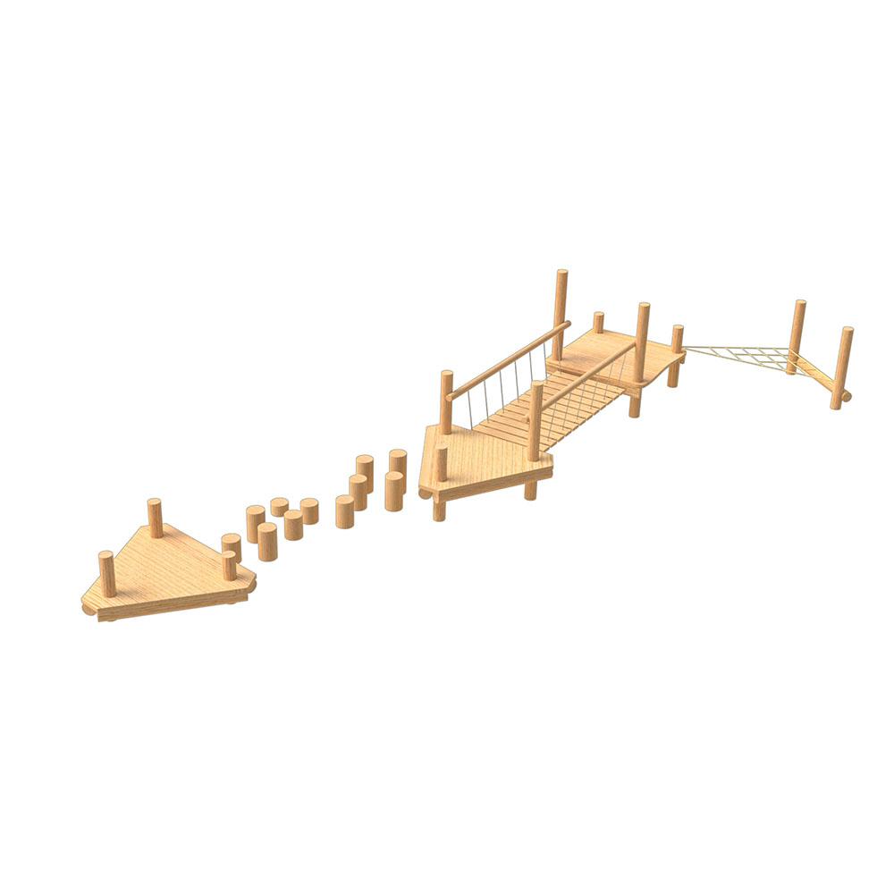 natural playground equipment robinia climbing frame